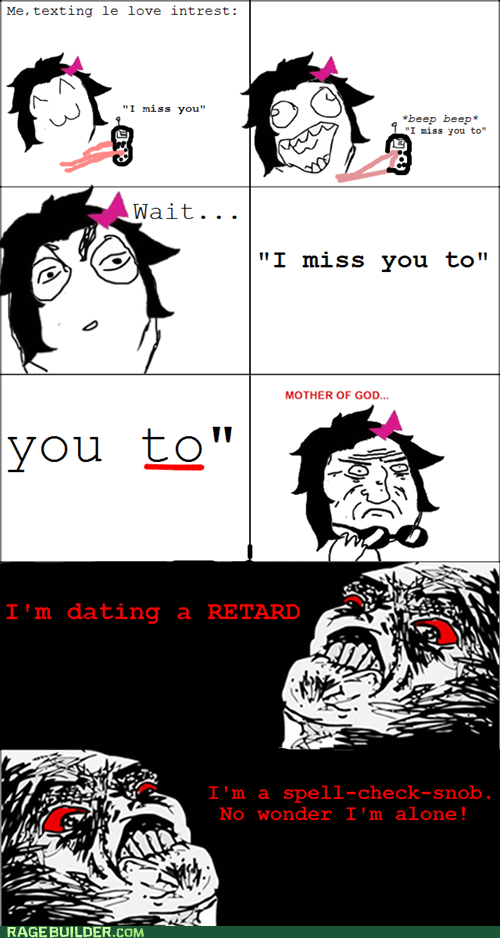 grammar phone Rage Comics texting - 5448117248