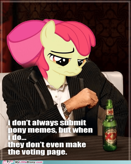 apple bloom crossover meme Memes ponies toastwaffle uninteresting voting page - 5448206336
