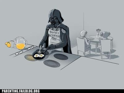 breakfast,cooking,darth vader,eggs,nerdgasm,Parenting Fail,star wars
