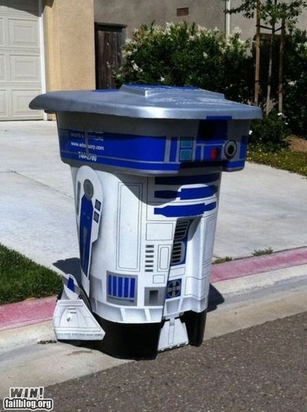 Artoo Hall of Fame modified nerdgasm r2-d2 recycling star wars trash trash can - 5448407808