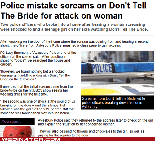 bbc dont-tell-the-bride england funny wedding photos police UK