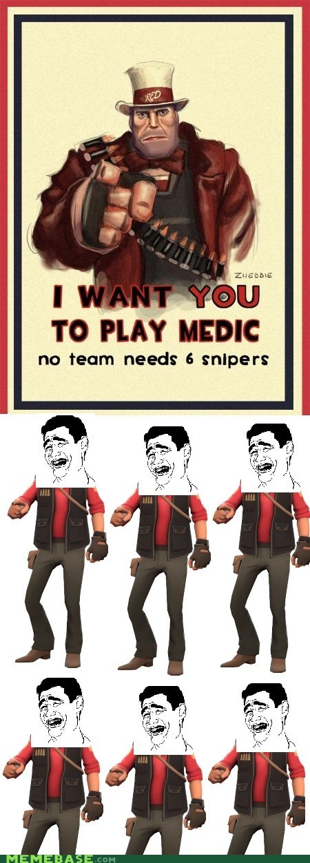 medic,Rage Comics,safe,sniper,team fortress,video games