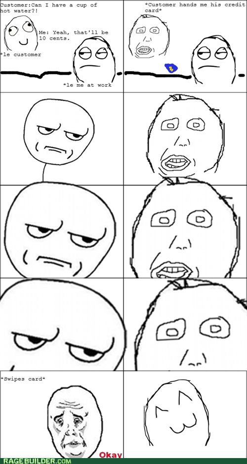 credit card,hot water,penny jar,Rage Comics