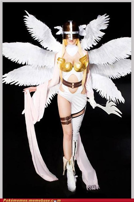 Angewomon digifriday digimon digivolve fandom base IRL