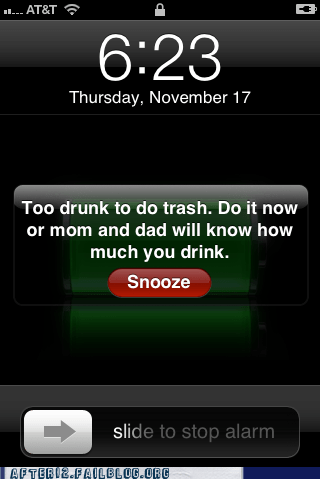 dad,drinking,drunk,message,morning after,texting,trash