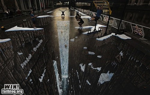 art,illusion,perspective,reebok,street,Street Art
