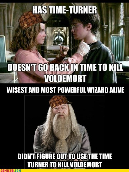 dumbledore,Harry Potter,scumbag,scumbag harry potter,time turner,voldemort