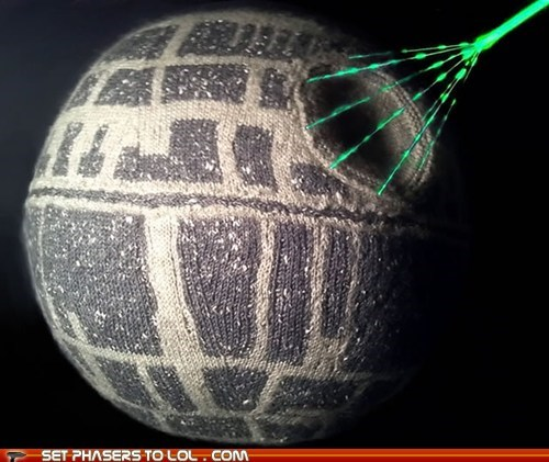 Death Star,knit,space station,star wars,thats-no-moon,yarn