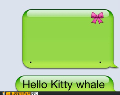 hello kitty iphone whale whale - 5448789760