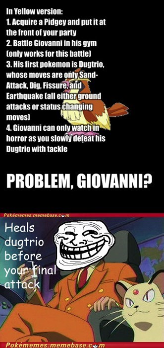 giovanni healed meme Memes struggle tackle trolling - 5448797952
