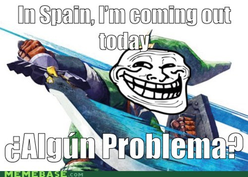 link Spain troll face video games zelda - 5448811776