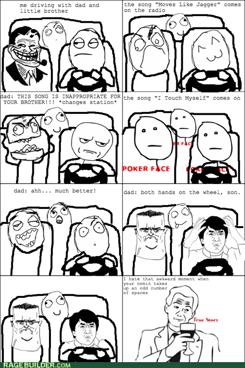 driving,i touch myself,moves like jagger,Music,Rage Comics