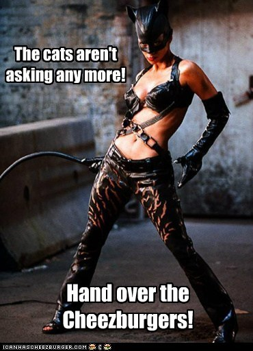 cat catwoman halle berry I Can Has Cheezburger whip - 5449674496