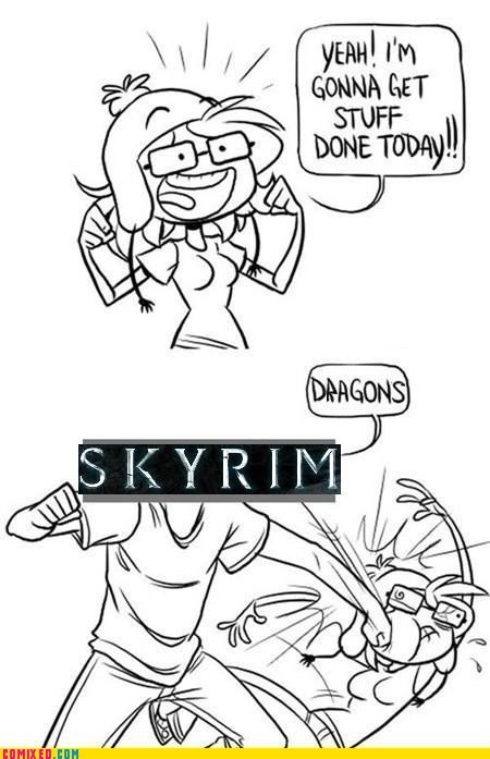 best of week,dragons,get stuff done,Skyrim,the internet,video games