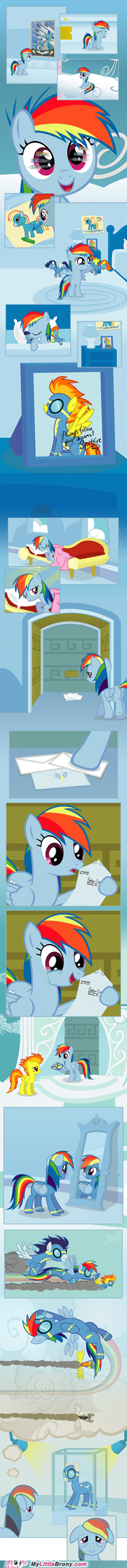 always follow your dreams comics filly rainbow dash - 5450371584