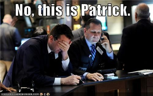 facepalm no this is patrick not good patrick patrick star Pundit Kitchen SpongeBob SquarePants stock brokers uh oh