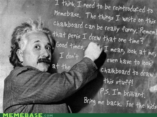 chalkboard,einstein,gross,knowledge is laughter,memebase,Memes