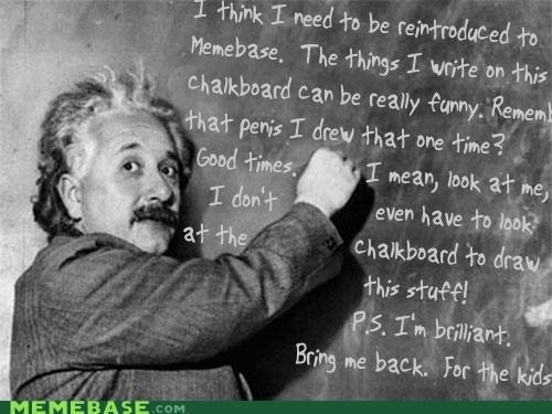 chalkboard einstein gross knowledge is laughter memebase Memes - 5450403328
