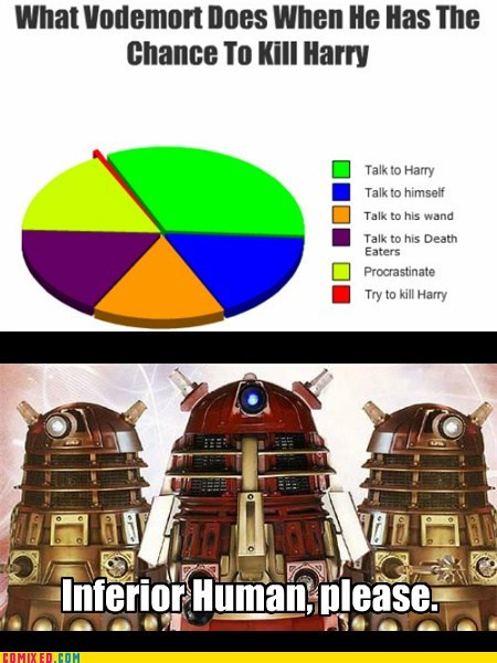 centuries daleks doctor who Harry Potter TV voldemort - 5450565888