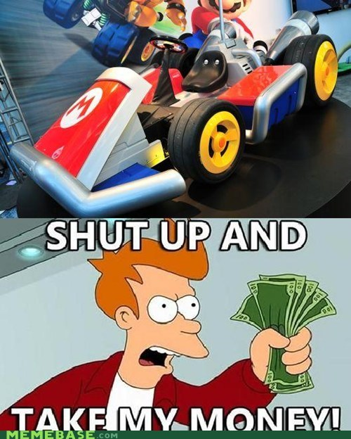 futurama i dont want to live on this planet anymore kart mario nintendo video games - 5450592000