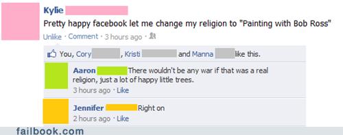 bob ross,happy trees,religion,win