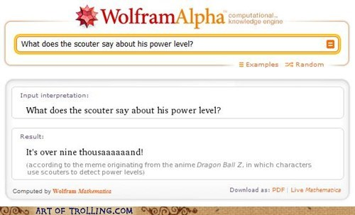 definition,over 9000,wolfram alpha
