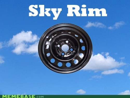 Lame Pun Coon puns RIM sky Skyrim video games wheel