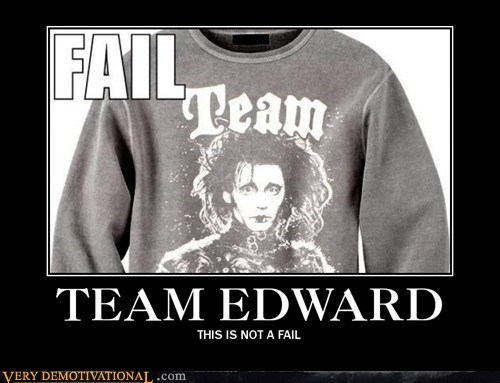 Edward Scissorhands,hilarious,sweatshirt,team edward,twilight
