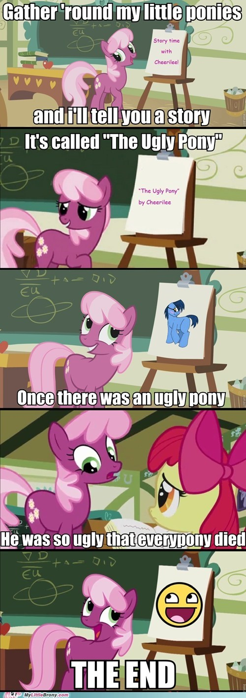 cheerilee comics everypony died meme Terrible Teacher ugly pony - 5451519488