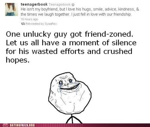 forever alone friend zone friendship Hall of Fame twitter - 5451546624