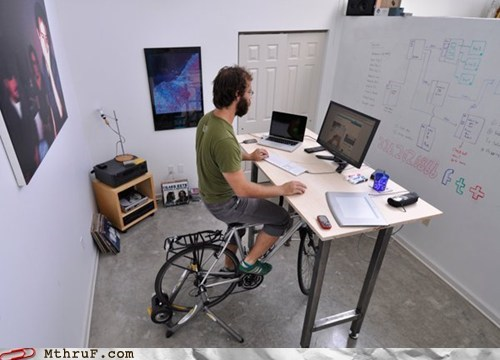 bike chair,exercising at work,office swag