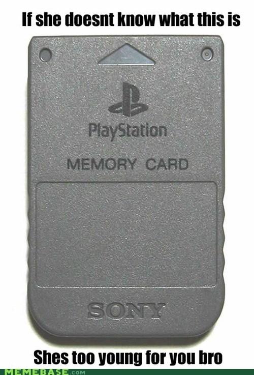 Memes memory card playstation video games young - 5451626240