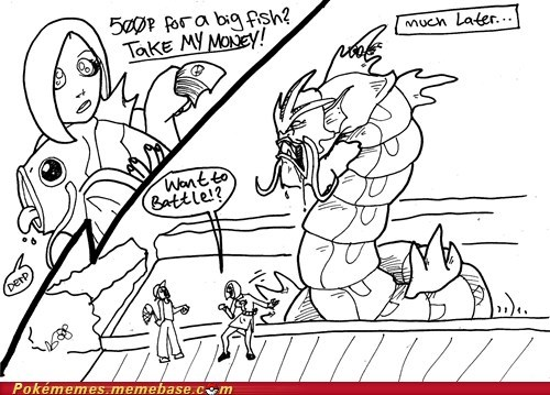 Battle comic derp gyarados magikarp