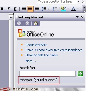 clippy,get ride of clippy,Microsoft Office