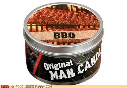 bbq candle manly meat scented