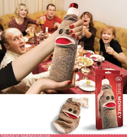 bag cover gift guide monkey sock wine - 5451811072