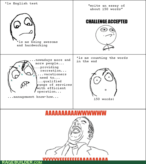 luck,Rage Comics,word limit,words