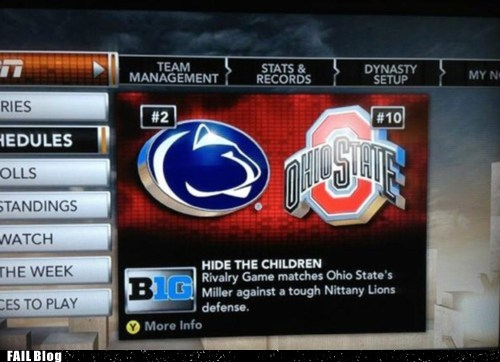 college espn football ohio state pedobear penn state sports too soon - 5451952128