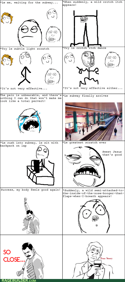 booger crotch itch Rage Comics - 5451988480