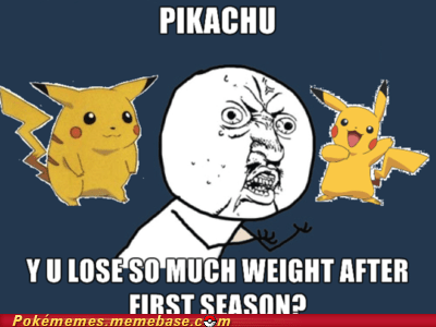 losing weight,meme,Memes,pikachu,Y U No Guy