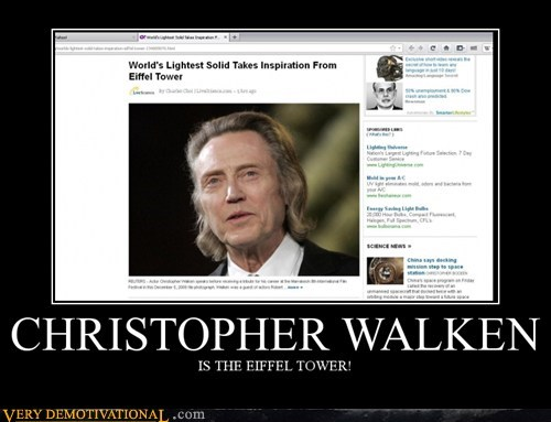 christopher walken eiffel tower hilarious wtf - 5452091136