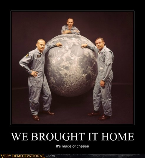 astronauts cheese moon Pure Awesome science