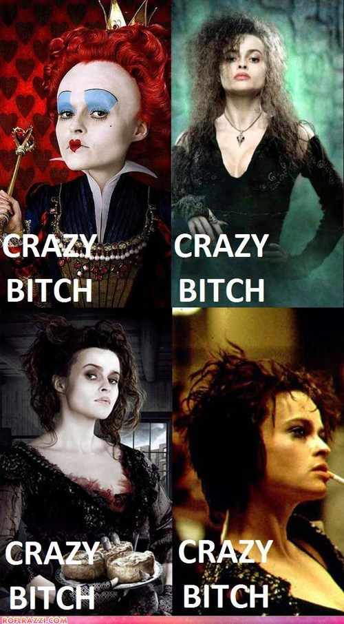 Helena Bonham Carter Sure has Some Range!
