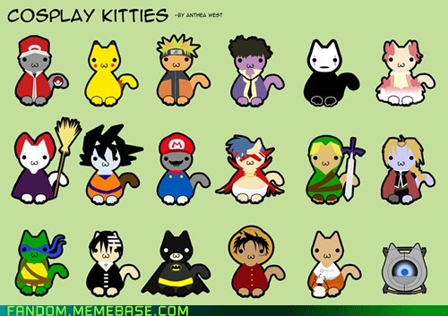 anime best of week Cats cosplay kitties cute Fan Art video games - 5452231424