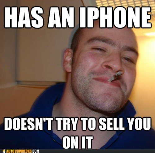 apple apple fan Good Guy Greg iphone meme - 5452269056