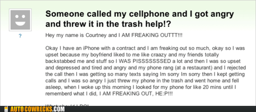 iphone,lost,lost phone,yahoo answers