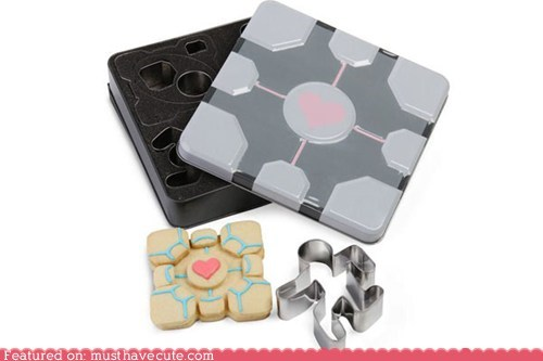 cookie cutters,cookies,game,gift guide,Portal,video game