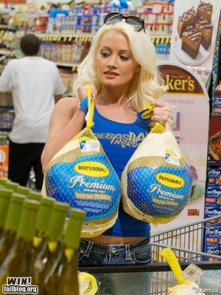 blonde groceries holiday lady bits shopping thanksgiving Turkey - 5452382208