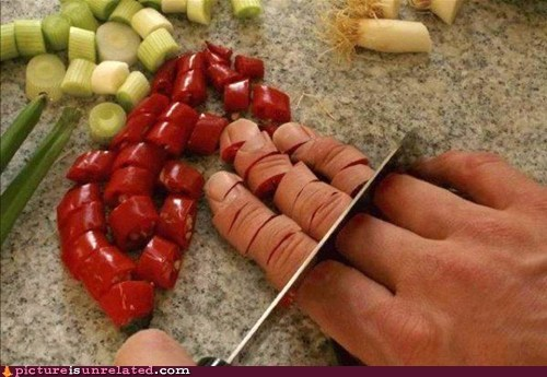 chopping cooking knife ouch wtf - 5452470528