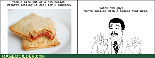 cool,hot pocket,Rage Comics,watch out guys